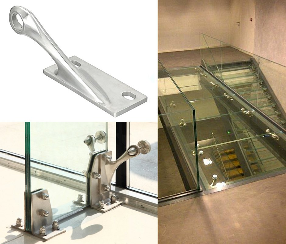 Спайдеры для стеклянных ребер - S 3100 / S3100 DU, 1 arm 90° Априора